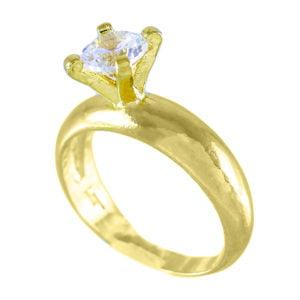 انگشتر زنانه طرح الماس برش گرد _ کد : ۲۰۰۰۰۵