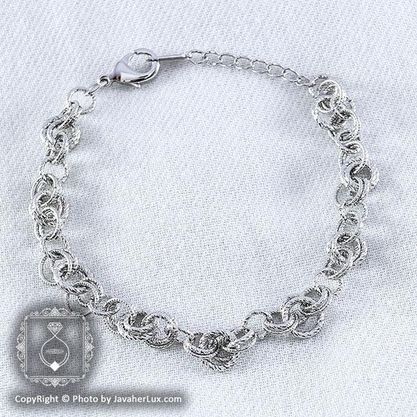 دستبند زنانه زنجیری مدل شبنم _ کد : ۲۰۰۰۱۲