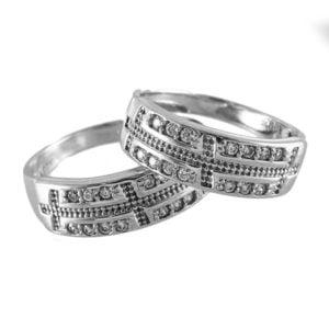 ست حلقه نقره مدل ایرسا _ کد : 100061
