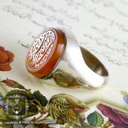 انگشتر نقره مردانه عقیق یمنی حکاکی حسین منی _ کد : ۱۰۰۰۹۷