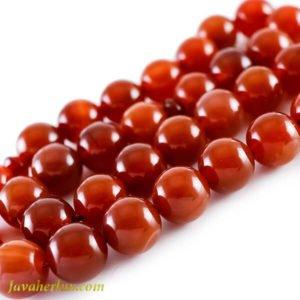 تسبیح عقیق قرمز 33 دانه ای مدل آروید _ کد : 500010