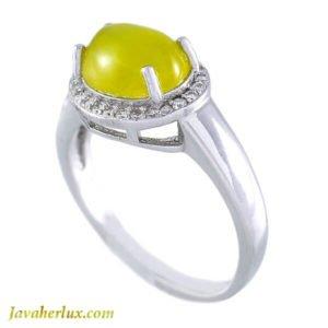 انگشتر نقره زنانه شرف الشمس مدل یولد _ کد : 100025