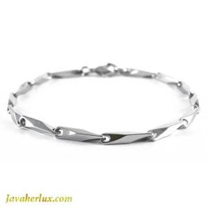دستبند زنجیری مردانه مدل کرا _ کد : 200141