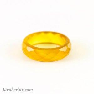 حلقه عقیق زرد رینگی ساده _ کد : 400044