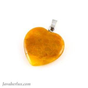آویز آونتورین پرتقالی تراش قلب _ کد : 400054