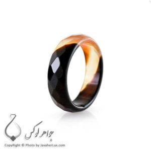 حلقه ساده عقیق سلیمانی قهوه ای _ کد : 400071