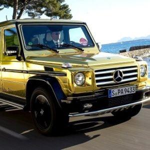خودرویی با روکش طلا 24 عیار