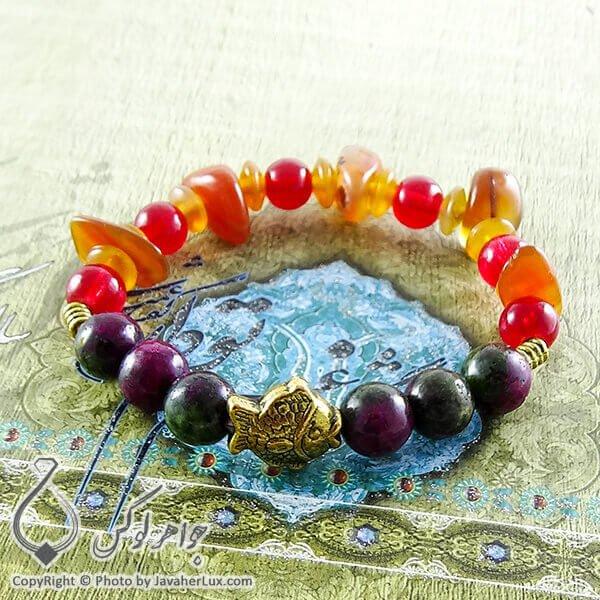 دستبند سنگ روبی زئوسیت _ کد : 400097