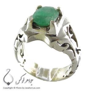 انگشتر نقره مردانه زمرد _ کد : 100120