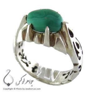 انگشتر نقره مردانه مالاکیت _ کد : 100122