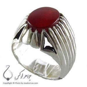 انگشتر نقره مردانه عقیق یمنی مدل برا _ کد : 100151