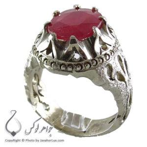 انگشتر مردانه یاقوت سرخ _ کد : 100157