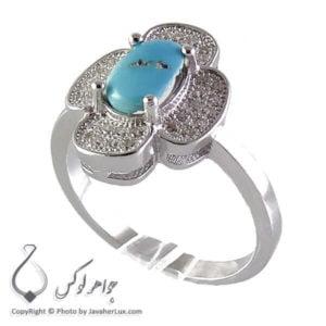 انگشتر نقره زنانه فیروزه نیشابوری مدل سدا _ کد : 100160