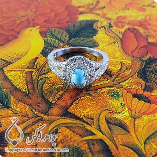 انگشتر زنانه فیروزه نیشابوری مدل رشا _ کد : 100165