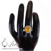 انگشتر شرف الشمس نقره زنانه مدل مهرا _ کد : ۱۰۰۱۸۸