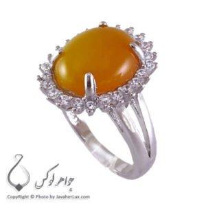 انگشتر شرف الشمس نقره زنانه مدل مهرا _ کد : 100188