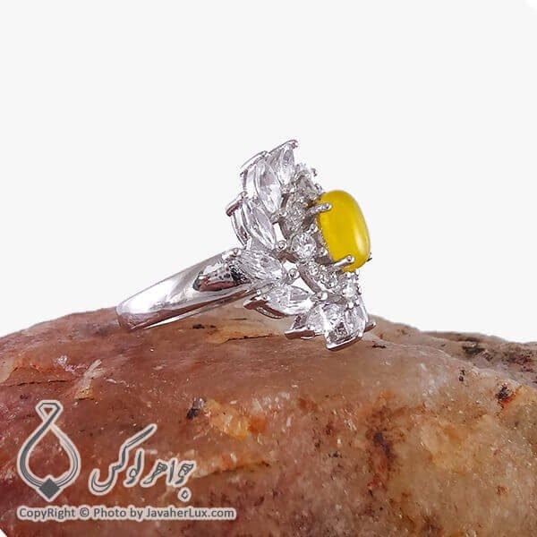 انگشتر زنانه شرف الشمس نقره مدل نژلا _ کد : 100190