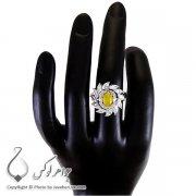 انگشتر زنانه شرف الشمس نقره مدل نژلا _ کد : ۱۰۰۱۹۰