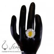 انگشتر زنانه شرف الشمس مدل رومیسا _ کد : ۱۰۰۱۹۲
