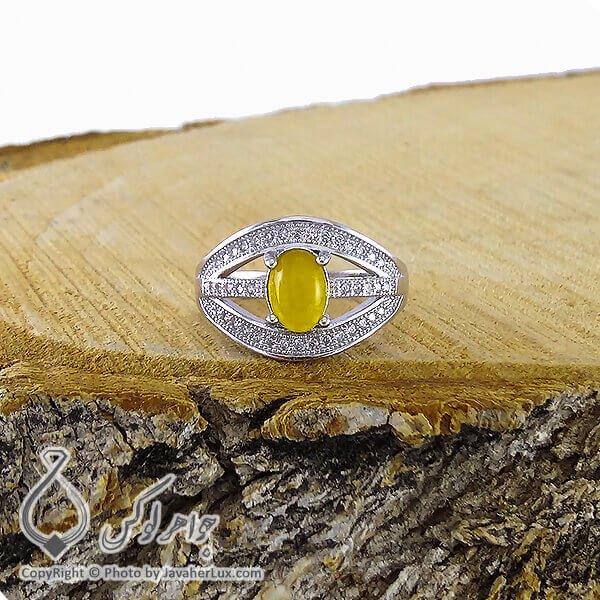 انگشتر نقره زنانه شرف الشمس مدل اصیلا _ کد : ۱۰۰۱۹۶
