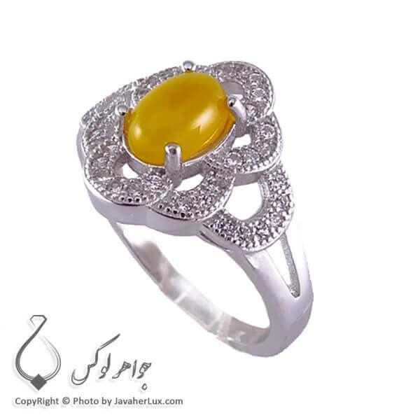 انگشتر شرف الشمس نقره زنانه مدل چاکا _ کد : ۱۰۰۲۰۲