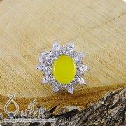 انگشتر شرف الشمس نقره زنانه مدل هیما _ کد : ۱۰۰۲۰۴
