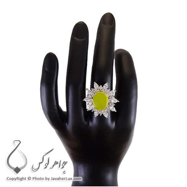 انگشتر شرف الشمس نقره زنانه مدل هیما _ کد : 100204