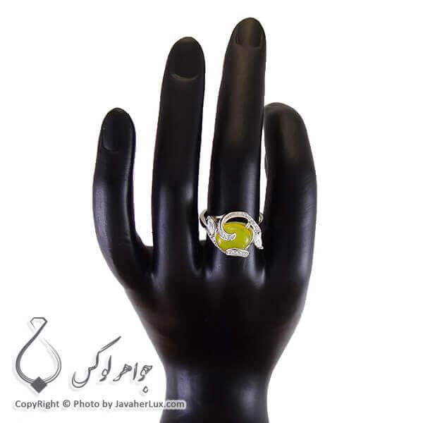 انگشتر شرف الشمس نقره زنانه مدل کانیاو _ کد : ۱۰۰۲۰۵