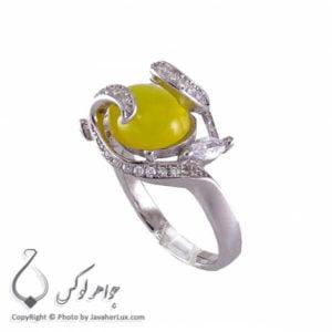 انگشتر شرف الشمس نقره زنانه مدل کانیاو _ کد : 100205