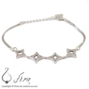 دستبند نقره زنانه مدل آی گین _ کد : 100217
