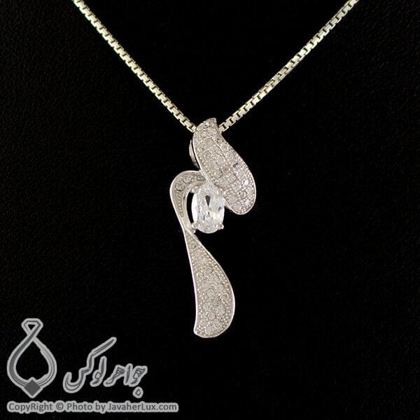 گردنبند نقره زنانه میکروستینگ مدل بازنه _ کد : 100224