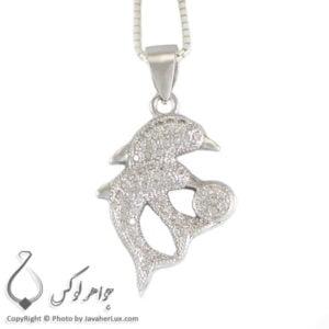 گردنبند نقره زنانه مدل دلفین _ کد : 100256