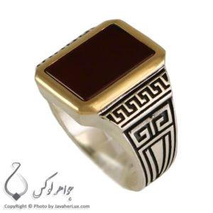 انگشتر نقره مردانه مدل بردیا _ کد : 100282