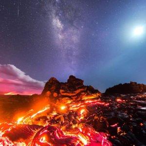 عکسی خیره کننده از آتشفشان هاوایی