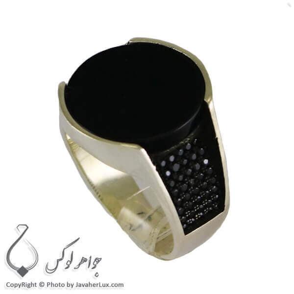 انگشتر نقره مردانه عقیق سیاه مدل برامر _ کد : 100313