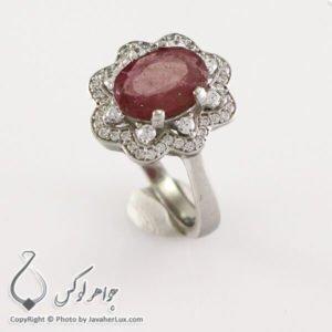 انگشتر نقره زنانه یاقوت سرخ مدل دیلون _ کد : 100322