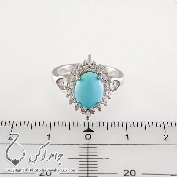 انگشتر نقره زنانه فیروزه نیشابوری مدل امانوئل _ کد : 100328