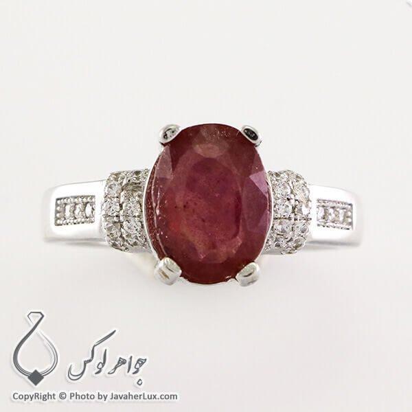 انگشتر نقره زنانه یاقوت سرخ مدل آنیا _ کد : 100333