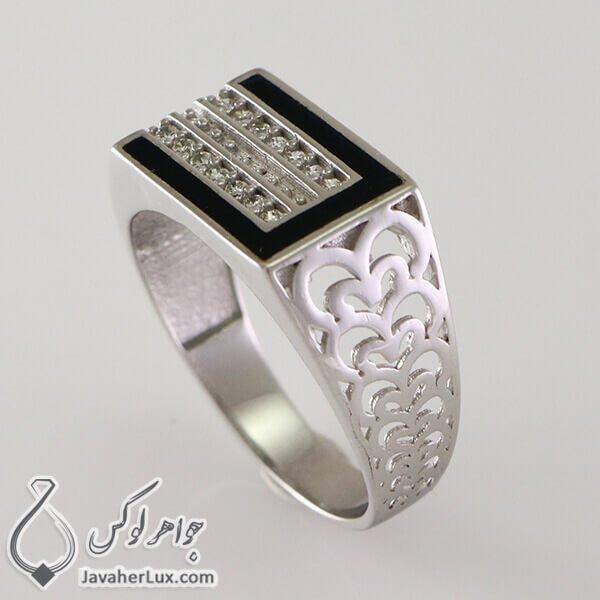 Mens-silver-ring-black-agate-code-100336-3