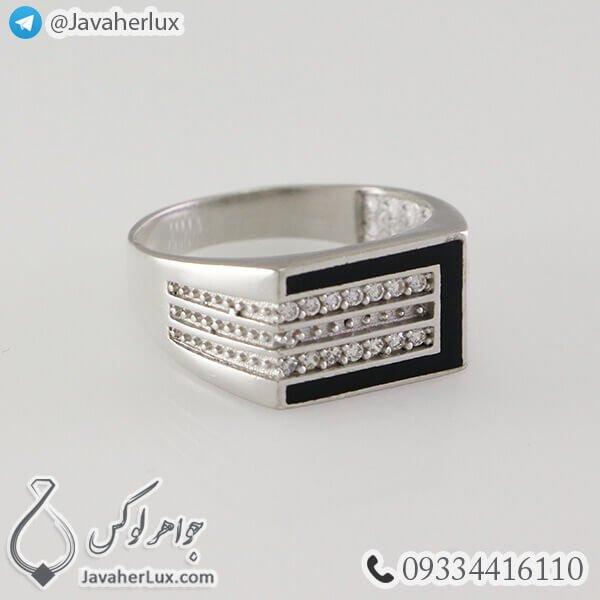 Mens-silver-ring-black-agate-code-100336-2