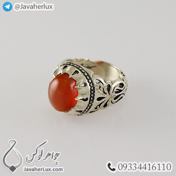 Mens-silver-ring-agate-Khorasan-code-100337-2