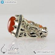 Mens-silver-ring-agate-Khorasan-code-100337-1