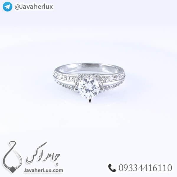 انگشتر نقره زنانه مدل اسپانتا _ کد : 100340