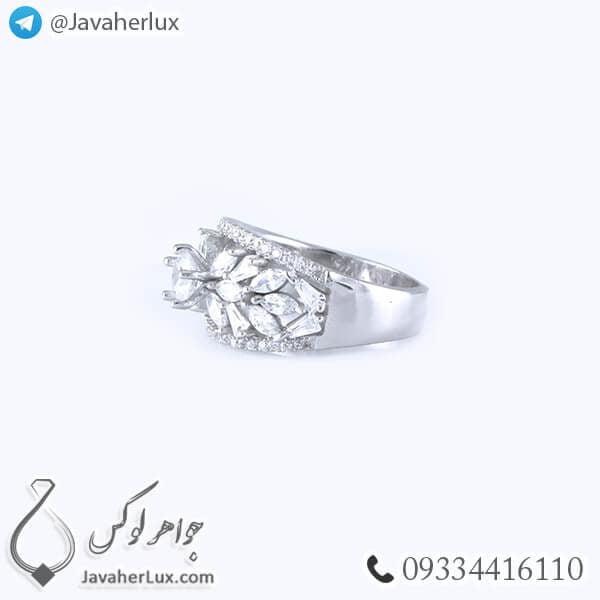 انگشتر نقره زنانه مدل اسپنتا _ کد : 100341