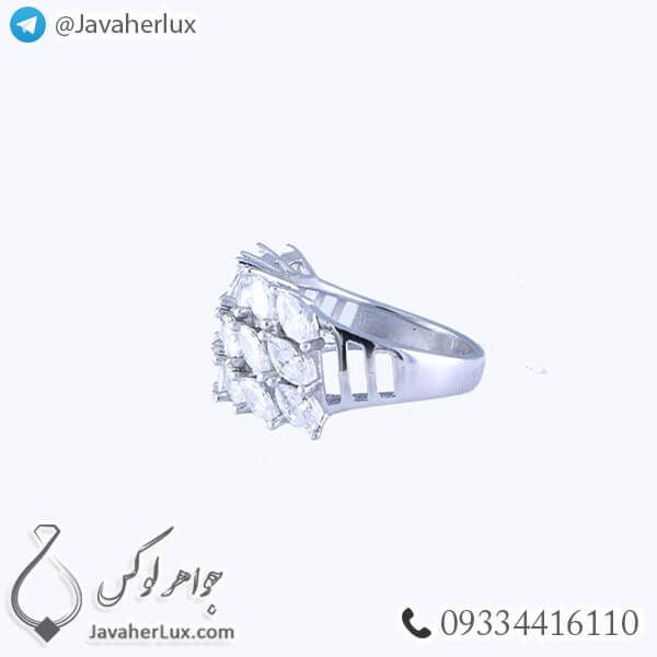 انگشتر نقره زنانه مدل الوا _ کد : 100345