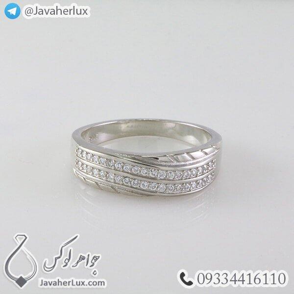 ست حلقه نقره مدل بافرین _ کد : 100350