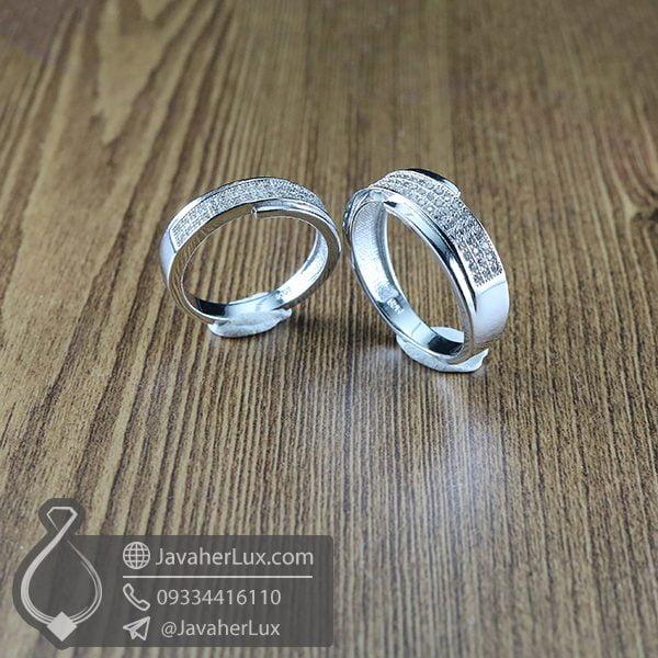 ست حلقه نقره مدل بهرانه _ کد : 100365