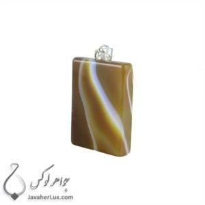 گردنبند سنگ عقیق سلیمانی مدل بهتا _ کد : 400206