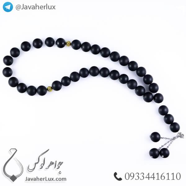 black-agate-mate-stone-rosary-33-beads-code-500046-2