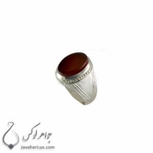 انگشتر نقره مردانه عقیق یمنی مدل اردیان _ کد : 100376